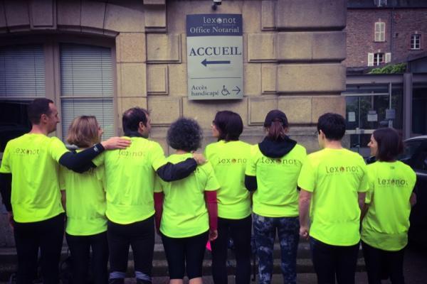 Les équipes de LEXONOT-Notaires à Rennes ont couru le Rennes Urban Trail